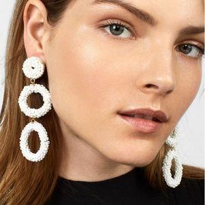Baublebar Capella beaded triple hoop drop earring